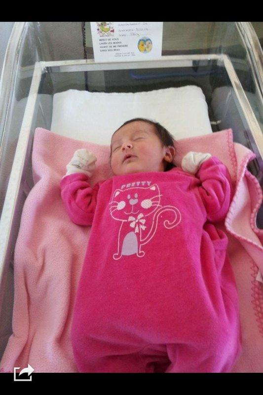 يوم  وليلة الخميس  ازدادت هذه الطفلة الجميلة وذالك بتاريخ   31/12/2014