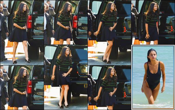 - ''-18/09/15-''- • '-Selena Gomez arrivait au studio de l'émission :« ¡Despierta América! »se trouvant dans Miami. Un peu plus tard, c'est pendant qu'elle profitait de la plage que Selena a été photographiée par les paparazzis. Elle était juste magnifique. -