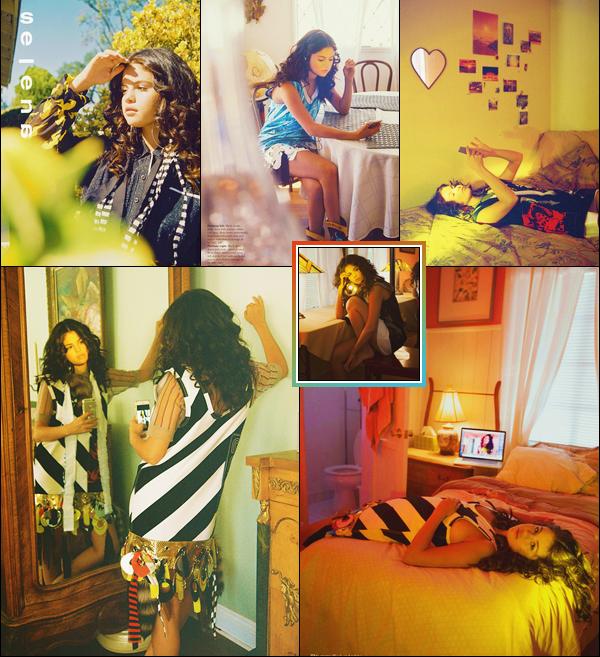 •Selena Gomezen couverture de l'édition spéciale des 10 ans du magazine «Wonderland».