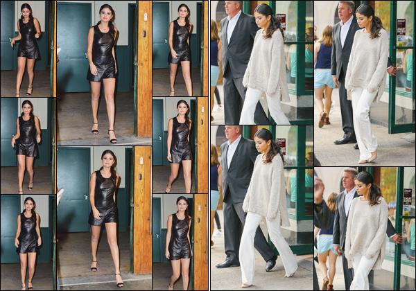 - ''-11/09/15-''- • '-Selena Gomez a été vue quittant le défilé de la marque: « Polo Ralph Lauren »ayant lieu à NY. Un peu plus tard, c'est lorsqu'elle quittait un restaurant chinois toujours situé dans New-York que Selena a été prise en photo. Deux top. -