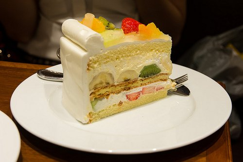Gâteau délicieux au fruit <3