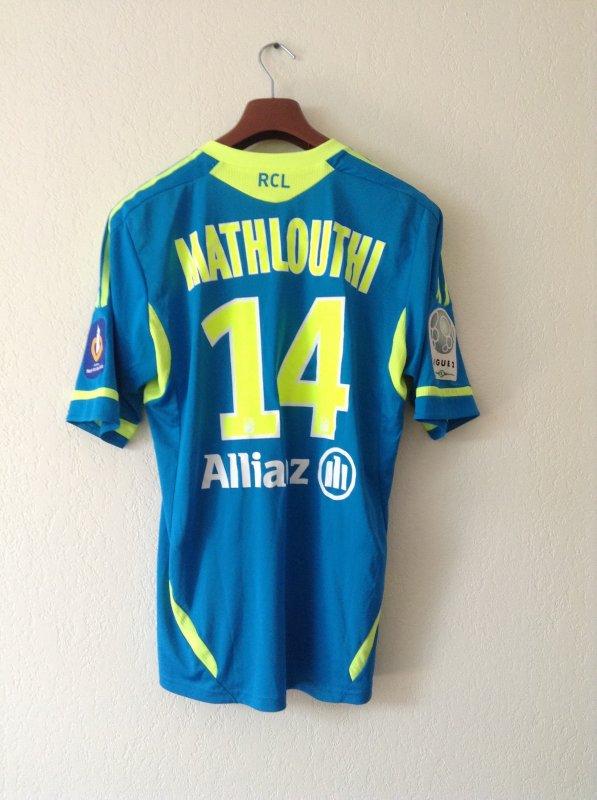 Maillot porté par emel mathlouthi lors d'un match de L2 avec le Racing Club de Lens. Saison 2011/2012