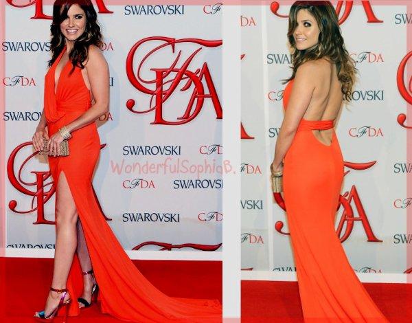 Lundi 4 Juin 2012. Sophia aux CFDA Fashion Awards 2012.