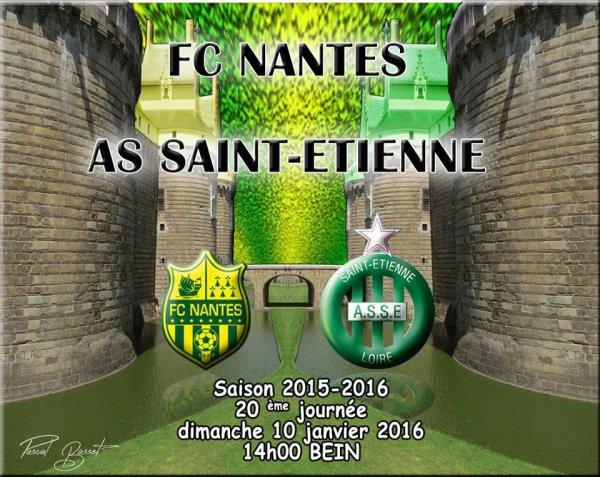FC-NANTES * ASSE du 10 janvier 2016 comptant pour la 20ème journée de championnat de ligue 1.