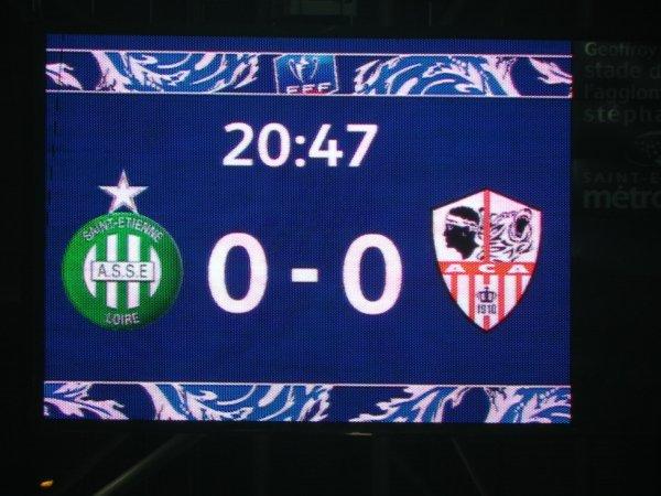 ASSE * AJACCIO du 21 janvier 2016 , Coupe de France 2015-2016. Match à oublier.