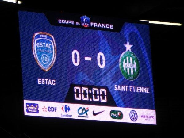 TROYES * ASSE du 10 février 2016 Coupe de France saison 2015-2016. La victoire est impérative.