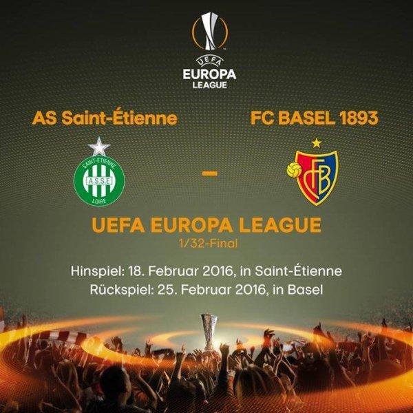 ASSE * BÂLE du 18 février 2016 -- 16ème de finale de l'Europa League 2016.