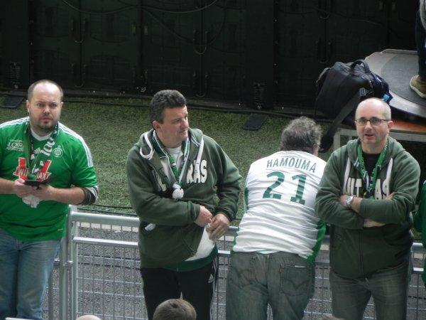 ASSE * MONTPELLIER du 19 mars 2016 .Les Supporters sont bien présents pour encourager les joueurs.