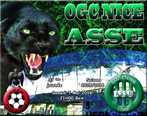 OGC-NICE * ASSE du 7 mai 2016 comptant pour la 37ème journée de championnat de ligue 1..