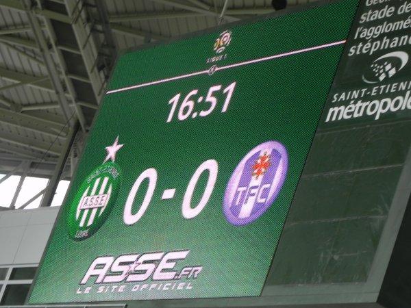 ASSE * TOULOUSE du 30 mai 2016. Un match nul sur toute la ligue.
