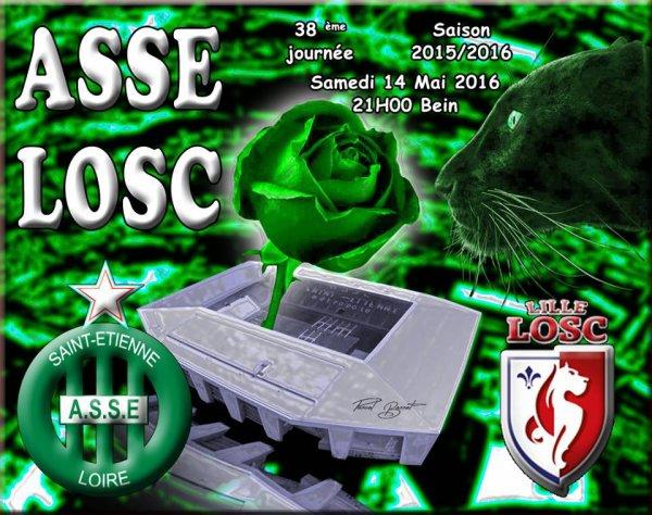 ASSE * LILLE du 14 mai 2016 comptant pour la 38ème journée de championnat de ligue 1.