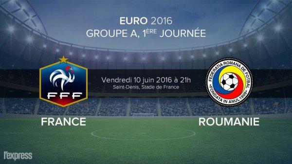 EURO 2016 : FRANCE * ROUMANIE du 14 juin 2016 , 1ière journée du groupe A