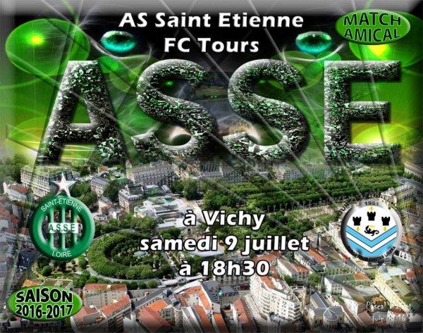 Match amical : ASSE * TOURS à VICHY le 9 juillet 2016.
