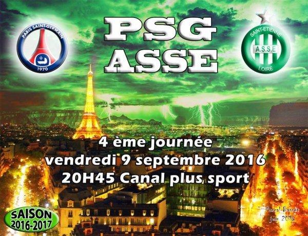 PSG * ASSE du 9 septembre 2016 comptant pour la 4ème journée de championnat de ligue 1.