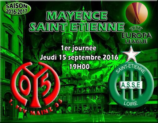 MAYENCE - ASSE du 15 septembre 2016  1ière journée Europa League 2016-2017.