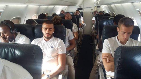 MAYENCE - ASSE du 15 septembre 2016  1ière journée Europa League 2016-2017. Départ des joureurs.