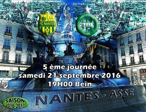 NANTES * ASSE du 23 septembre 2016 comptant pour la 6ème journée de championnat de ligue 1.
