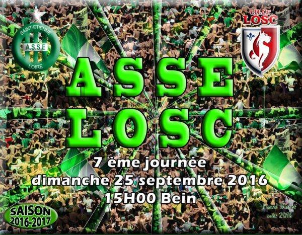 ASSE * LILLE du 25 septembre 2016 comptant pour la 7ème journée du championnat de ligue 1.