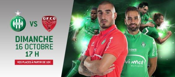 ASSE * DIJON du 16 octobre 2016 comptant pour la 9ème journée de championnat de ligue 1.