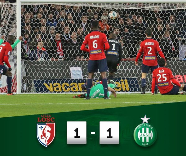 LOSC 1 * 1 ASSE: un point en Nord !.