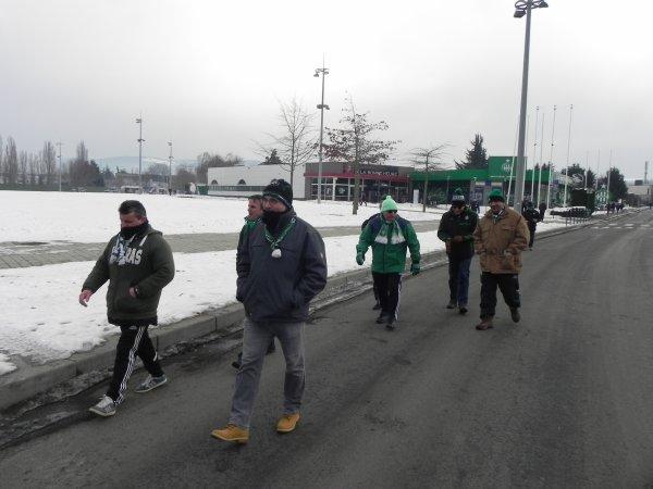 ASSE 2 * 1 ANGERS: des SUPPORTERS pour qui le froid n'est rien. - 11 à BLOIS et -4 à Sainté.