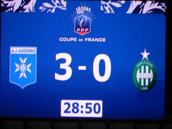 AUXERRE * ASSE du 1 février 2017  16ème de finale de la coupe de France.