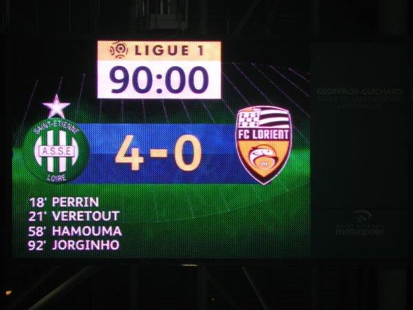 ASSE * LORIENT du 12 février 2017 quelle rencontre, quel match, belle victoire.