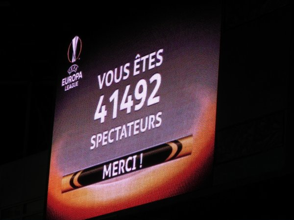 AINSI ce termine notre épopée en Europa League face à un très grand d'Europe.