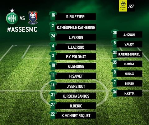ASSE - CAEN du 26 février 2017 - Garande et Revelli que deux bons et sérieux joueurs pas comme cet après-midi sur le terrain pour certains.