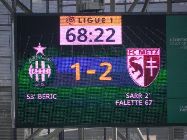 ASSE 2-2 FC METZ: LOÏC PERRIN sauve l'équipe de la déroute.