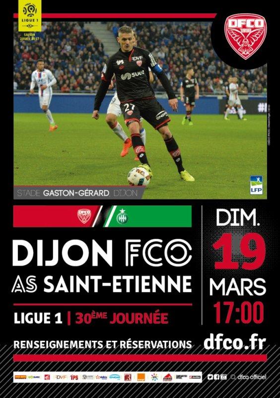 DIJON FCO * ASSE du 19 mars 2017 comptant pour la 30ème journée de championnat de ligue 1.
