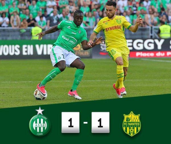 ASSE 1-1 FC Nantes: les VERTS ne concrétisent pas.