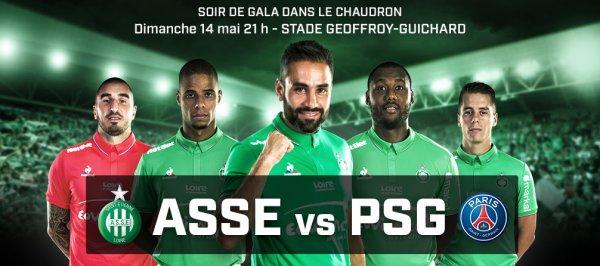 ASSE * PSG du 14 mai 2017 comptant pour la 37ème journée de championnat de ligue 1.