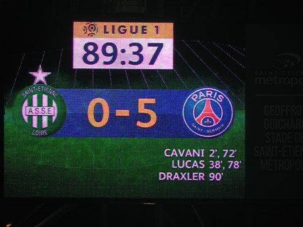 ASSE * PSG du 14 mai 2017, Malgré la défaite super ambiance dans le CHAUDRON.