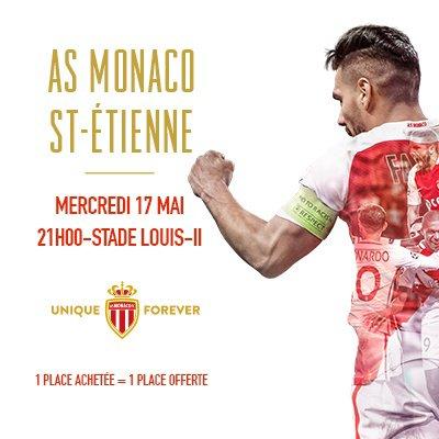 AS MONACO * ASSE du 17 mai 2017 match en retard du championnat saison 2016-2017.