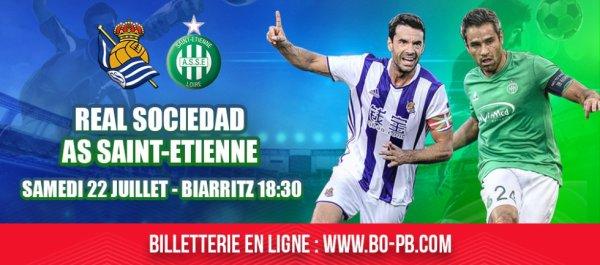 REAL SOCIEDAD * ASSE du 22 juillet 2017 match amical à Biarritz.