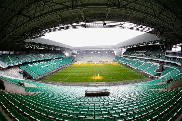 ASSE * MONTPELLIER du 26 juillet 2017 , match amical .ASSE - MHSC : Le groupe des Verts.