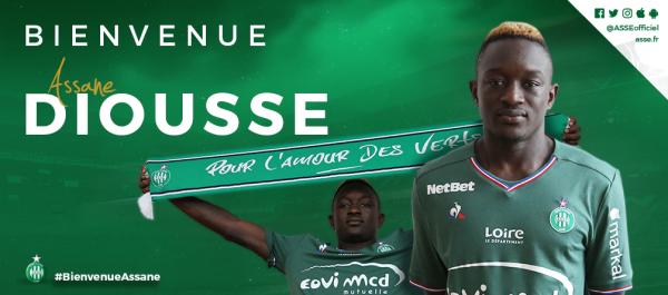 Assane Diousse en VERT jusqu'en 2022.