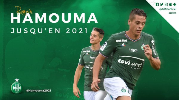 Flash : ROMAIN HAMOUMA a prolongé.  (off)