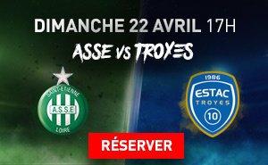 ASSE * TROYES du 22 avril 2018 comptant pour la 34ème journée de championnat de ligue 1.