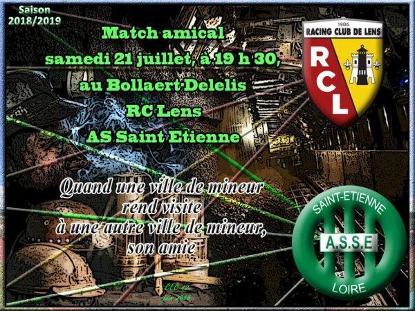 RC-LENS  - ASSE du 21 juillet 2018 . Match amical.