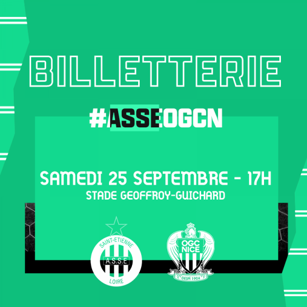 ASSE - OGC-NICE du 25 septembre 2021 comptant pour la 8ème journée de championnat de ligue 1.