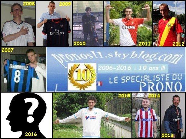 Pronos ligue 1 2006-2016 : 10 ans d'existence !!!