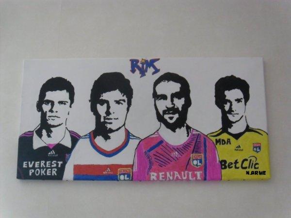 LOVREN - GOURCUFF - LISANDRO & LLORIS -- Olympique Lyonnais 2011-2012