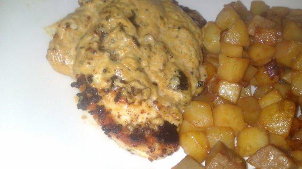 Escalope de poulet a la Dijonaise