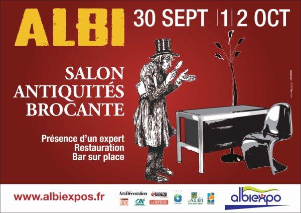 Après Tours et Le Mans, retour à la maison pour les préparatifs du salon antiquités et brocante à Albi. Venez nombreuses et nombreux !