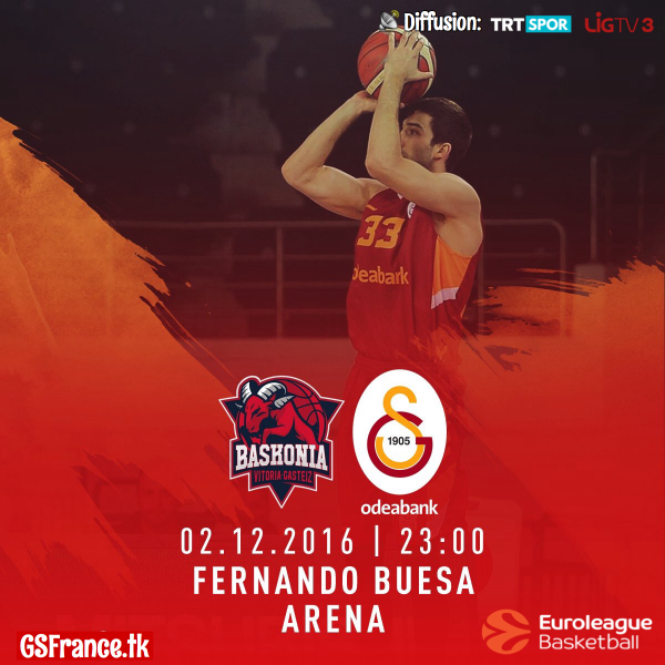 Jour de Match | Laboral Kutxa Baskonia vs Galatasaray Odeabank - Euroleague 10.Journée