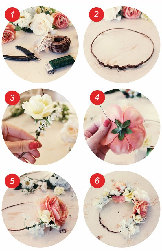 diy n 9 comment faire une couronne de fleurs pour les cheveux parce que le plus important c. Black Bedroom Furniture Sets. Home Design Ideas