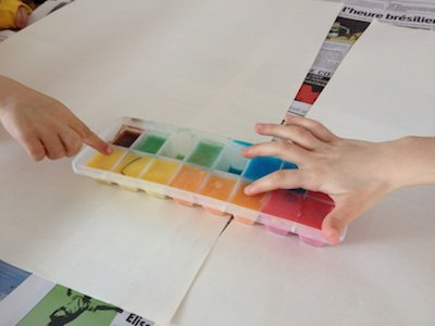 DIY n°10: Peindre avec des glaçons