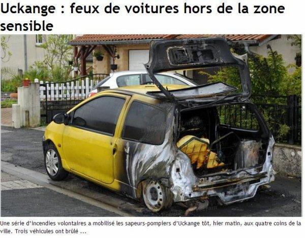 voiture brulée à uckange